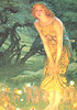 Edward Robert Hughes fairy painting