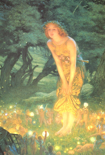 Hughes Midsummer Eve fairy painting