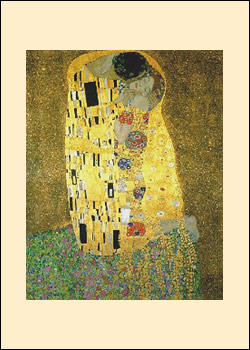 Klimt Kiss painting