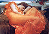 Frederic Leighton Flaming June painting