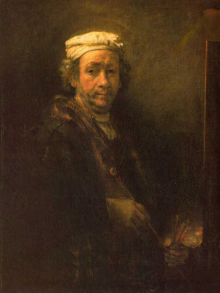 Rembrandt Self-Portrait at the Easel, 1660