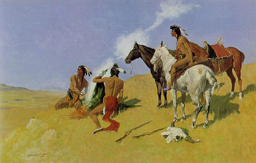 Remington Smoke Signals painting