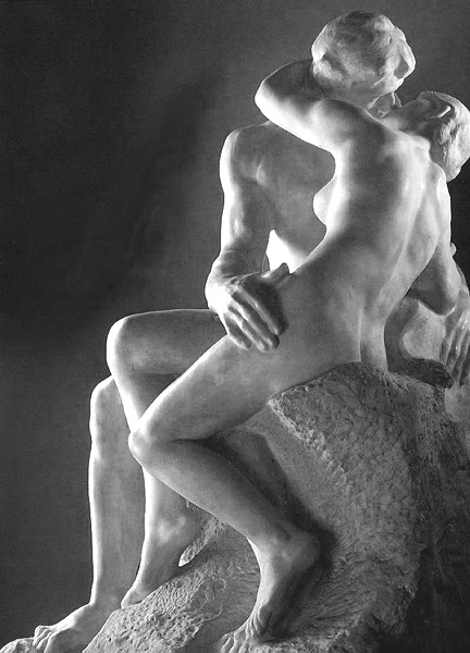 Rodin sculpture of The Kiss